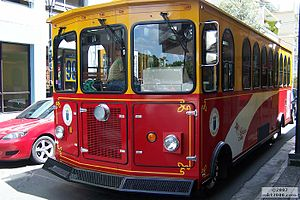 Caguas, Puerto Rico - Caguas Municipal Trolley in the Town Square