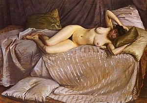 1873 in art - Image: Caillebotte Gustave Femme Nue Etendue Sur Un Divan