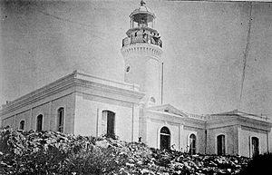"Caja de Muertos Light - Image undated ca. 1898 from ""Album de Puerto Rico"""