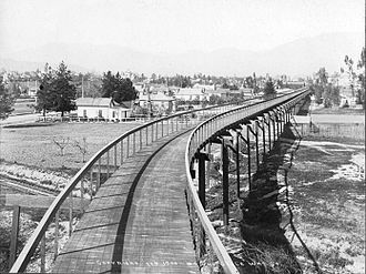 Arroyo Seco Parkway - The California Cycleway, 1900