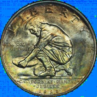 California Diamond Jubilee half dollar United States commemorative silver fifty-cent piece