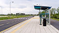 Cambridge Guided Busway St Ives Park & Ride bus stop in May 2012.jpg