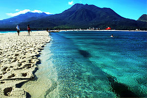 Camiguin - Mount Hibok-Hibok as seen from White Island and Mount Mambajao