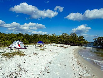 Ten Thousand Islands - Camping site at Camp LuLu Key