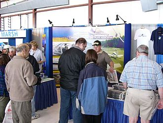 Canadian Aviation Expo - COPA's booth, part of the tradeshow at the 2004 Canadian Aviation Expo