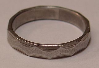 Engineers Iron Ring and Wedding Ring