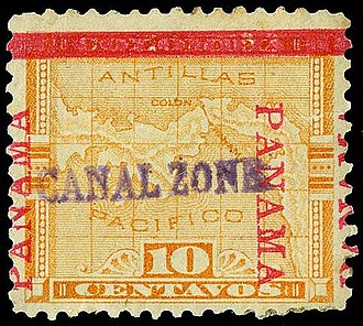 Postage stamps and postal history of the Canal Zone - 10-cent, Issue of 1904
