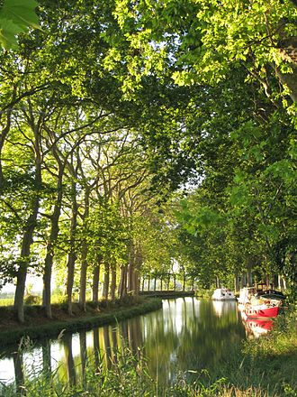 Colombiers, Hérault - Canal du Midi in Colombiers