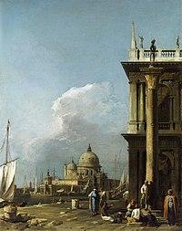 Canaletto (Venice 1697-Venice 1768) - The Piazzetta looking towards Santa Maria della Salute - RCIN 405073 - Royal Collection.jpg