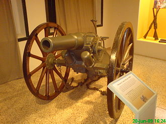 Canet gun - One surviving Canet M890 (100 mm) gun used by the Brazilian Army to control the Canudos uprising in 1897