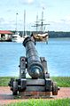 Cannon overlooking harbor, St. Michael's.jpg