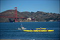 Canoe and Golden Gate Bridge seen from Crissy Field, San Francisco 18.jpg