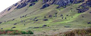 Moai - Moais quarry at Rano Raraku