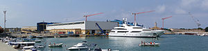 Benetti - The old Cantiere navale fratelli Orlando warehouse no more in use