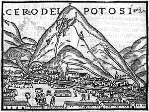 New World wine - Mining activity in Potosí created a huge demand for wine in 17th century South America. Drawing by Pedro Cieza de León from 1553.