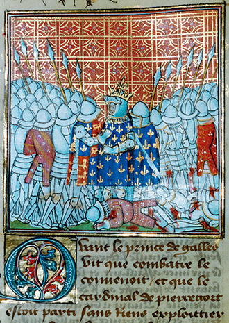 Battle of Poitiers - Jean II, the Good, being captured.