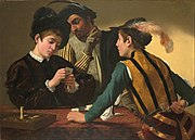 Caravaggio (Michelangelo Merisi) - The Cardsharps - Google Art Project.jpg