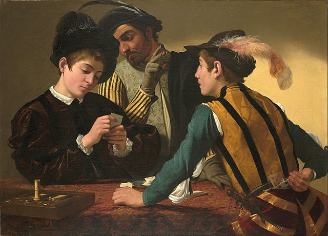 https://upload.wikimedia.org/wikipedia/commons/thumb/8/8e/Caravaggio_%28Michelangelo_Merisi%29_-_The_Cardsharps_-_Google_Art_Project.jpg/640px-Caravaggio_%28Michelangelo_Merisi%29_-_The_Cardsharps_-_Google_Art_Project.jpg