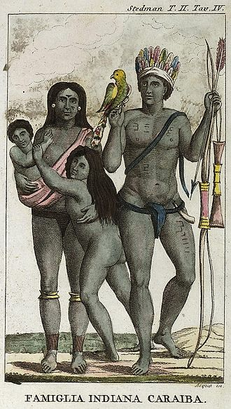 Island Caribs - Image: Carib indian family by John Gabriel Stedman