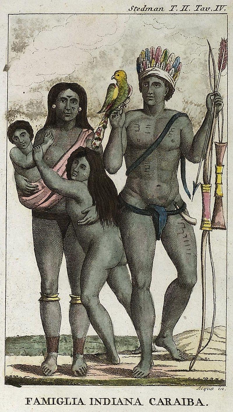 Carib indian family by John Gabriel Stedman.jpg