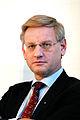 Carl Bildt, utrikesminister Sverige under pressmote vid Nordiska radets session i Kopenhamn 2006.jpg