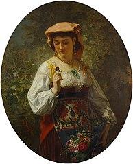 Portrait of italian woman
