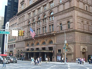 English: Carnegie Hall, New York City.
