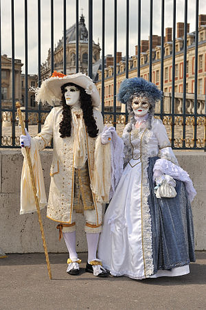 Louis XIV and Marie-Antoinette in front of Versailles Palace
