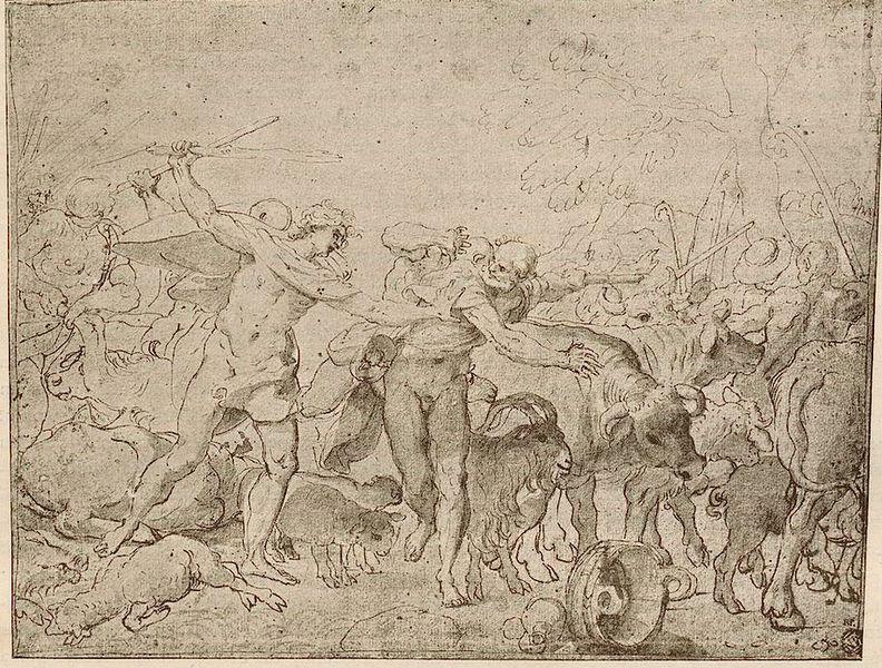 File:Carracci, Sketch for Palazzo Magnani Frescos, Louvre.jpg