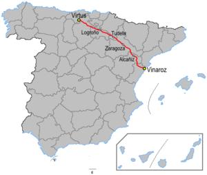 N-232 road (Spain) - Image: Carreteraesp n 232