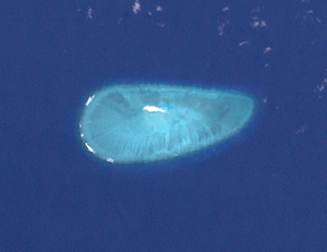 Ashmore and Cartier Islands - Cartier Island and surrounding reef (NASA satellite image)