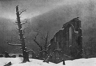 Cairn in Snow - Image: Caspar David Friedrich 046 (Monk in the Snow)