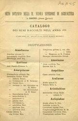 Catalogo dei semi raccolti nell'anno 1876