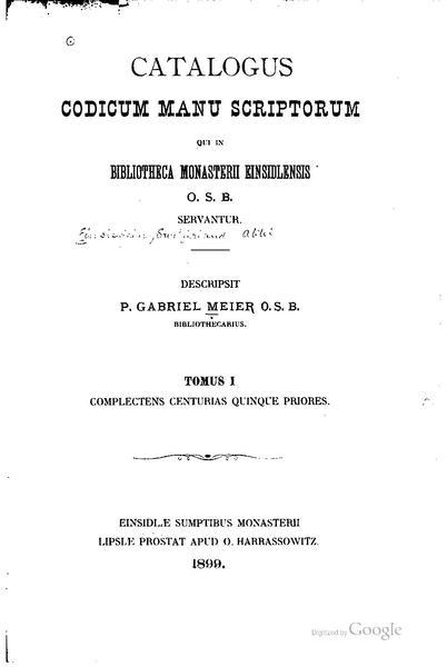 File:Catalogus codicum manu scriptorum qui in bibliotheca monasterii Einsidlensis.pdf