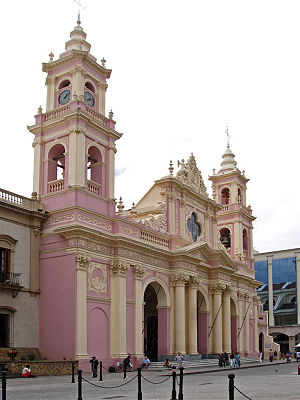 Baroque Revival architecture - The Church of Salta, Argentina