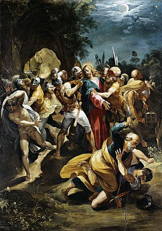 Saint Peter - Apostle Peter striking the High Priests' servant Malchus with a sword in the Garden of Gethsemane