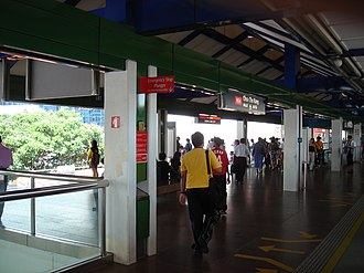 Choa Chu Kang - The Choa Chu Kang MRT Station is a major transport hub.