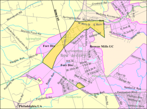 Wrightstown, New Jersey - Image: Census Bureau map of Wrightstown, New Jersey