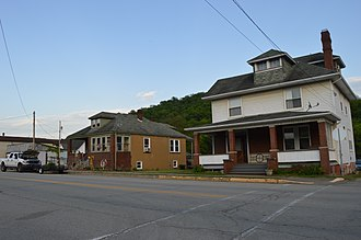 Clarksville, Pennsylvania - Houses on Center Street