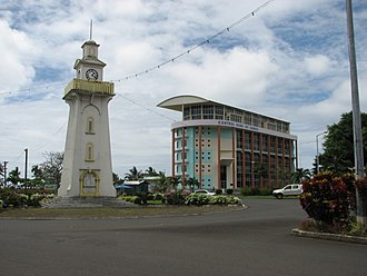 Olaf Frederick Nelson - The Clock Tower in Apia, a gift from the Nelson Family.