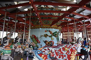 Central Park Carousel - Interior of the carousel