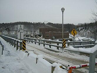 Saint-Étienne-des-Grès, Quebec - La Gabelle Power Station on the Saint-Maurice River.