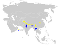 Cephalopyrus flammiceps distribution map.png