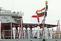 Ceremonial Colour Guard hoisting the Naval ensign for the first time on board INS Sumitra.jpg