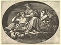 Ceres Seated on Clouds with Two Goddesses and Two Putti, from a series of eight compositions after Francesco Primaticcio's designs for the ceiling of the Ulysses Gallery (destroyed 1738-39) at Fontainebleau MET DP821331.jpg