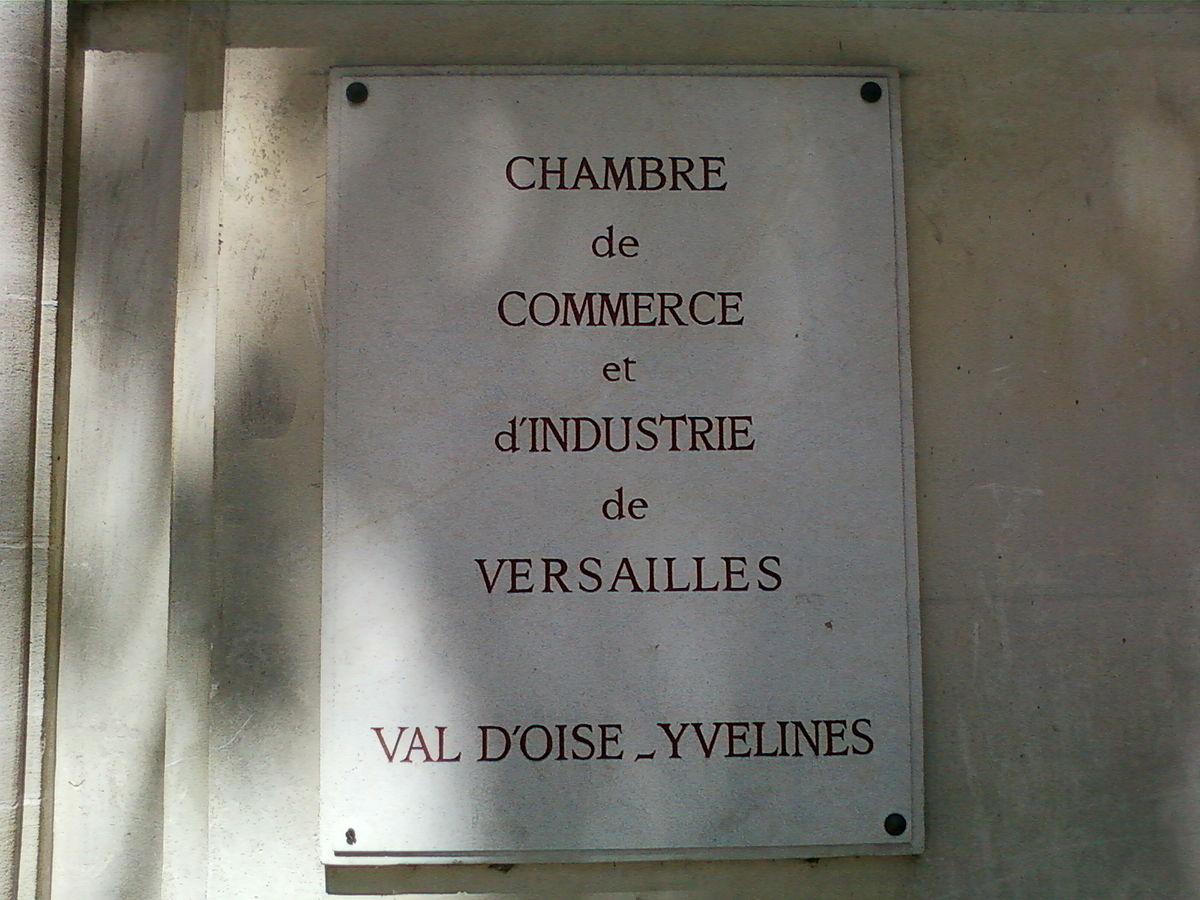 Versailles val d 39 oise yvelines chamber of commerce wikipedia for Chambre de commerce de france