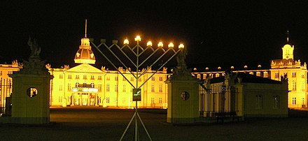 Public hanukkah on the Schlossplatz - Karlsruhe