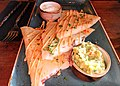 Cheese quesadillas with guacamole and sour cream (31712732886).jpg