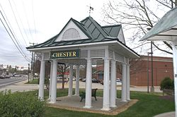 Chester Station Replica in Downtown Chester.