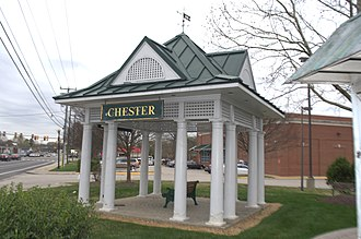 Chester, Virginia - Chester Station Replica in Downtown Chester.